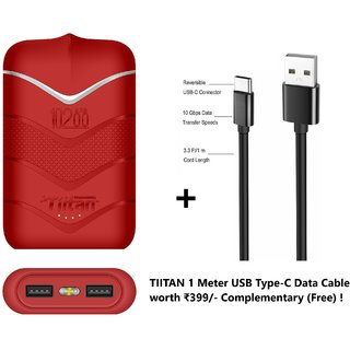 Tiitan 10200mAh Lithium-Ion Power Bank with Touch Light