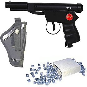 Dynamic Mart Bond Champion Air Gun 100 Bullets With Cover Pack Of 1 Black