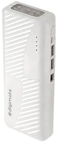 Digimate 16000 mAh and Above Lithium-ion Power Bank (DG-53,White) with 3 Months Seller Warranty