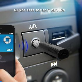 Deals E Unique 3.5Mm Bluetooth Audio Jack Receiver With Mic For Car Kit Compatible Car Bluetooth Audio For Android Ios