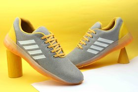 Kains Collection Men's Yellow Sports Shoes