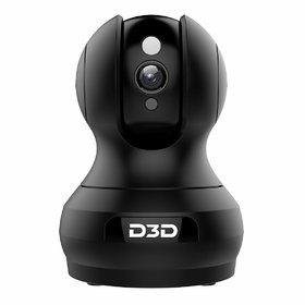 D3D 2MP (1920x1080P) WiFi Wireless AI Smart IP Home Security Camera CCTV with Cloud Storage  Night Vision Black F1-362B
