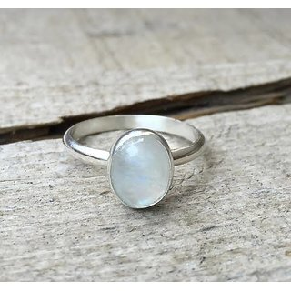 Moonstone Ring with Natural 5.5 Ratti Moonstone Astrological  Lab Certified - CEYLONMINE