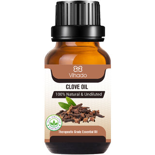 Pure, Natural, Therapeutic Grade and Undiluted Clove Essential Oil for Teeth, Hair, Skin (10 ml) (Pack of 1)