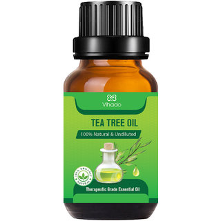 Tea Tree Essential Oil for Skin, Hair and Acne Care (10 ml) (Pack of 1)