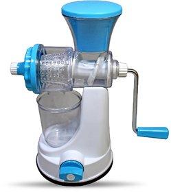 Fruit Vegetable Clear Barrel Juicer Multipurpose Hand Juicer Pack Of 1 Plastic Hand Juicer (Blue Pack Of 1)