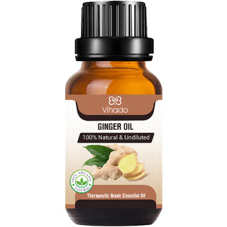 Ginger Oil - Pure and Therapeutic Grade - Massage Suitable for All Skin Types Pure Essential Oil (30 ml) (Pack of 1)