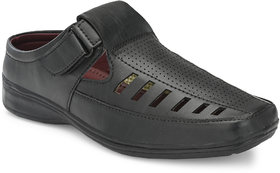Lee Peeter Men's Black Roman Sandals