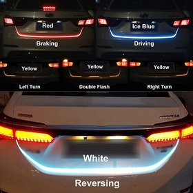 Flow Led Strip Trunk/Dicky / Boot/Tail Lights Streamer Brake Turn Signal Light (Works with All Cars)