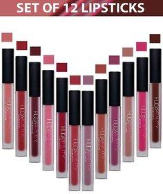 Huda Beauty Liquid Lipstick New Shades With Multi Color (Set of 12)