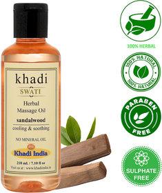 Khadi Swati Herbal Sandalwood Massage Oil - 210 ML