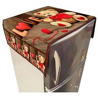 KANUSHI Fridge top Covers/Refrigerator Covers/Fridge Covers/Refrigerator Top Covers (3D Design Premium Qualit