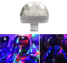 AutoBizarre Mini Disco DJ Lamp Light Multicolor Sound Activated Music Controlled Sensor Lights USB Powered For Cars
