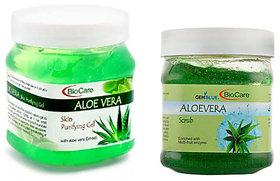 Bio Care Aloe Vera Face Gel+ Aloe Vera Scrub