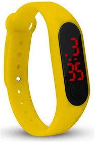 Varni Retail Rubber Magnet New LedYellow Digital Watch M2 LED RED - For Boys  Girls