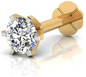 CEYLONMINE american diamond nose pin gold plated original stone for women   girls