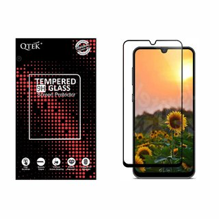 QTek Full Glass Edge to Edge scratchproof Tempered Glass for Oppo F15 with Free Installation kit.