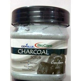 Bio Care Charcoal Face Body Scrub Cream 500gm Plastic Jar