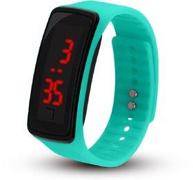 Digital PU Leather Mens Stylish office Pary Cusual wear Wrist Watch