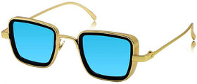 Adam Jones UV Protected Goggles Branded Metal Body Gold Mercury Blue inspired from Kabir Singh Sunglass for Men and Boys