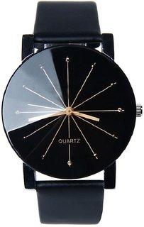 Analog PU Leather Mens Stylish office Pary Cusual wear Wrist Watch
