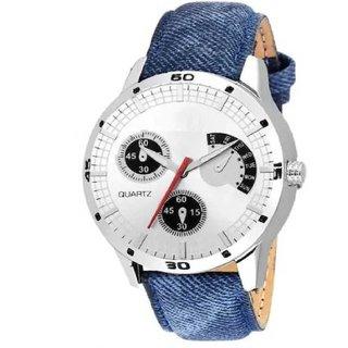 HRV Blue Denim Belt Leather BLUBLU JUST SMILE Watch Analog Watch For Men