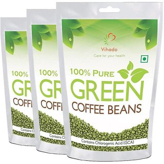 Vihado Green Coffee Beans Organic For Weight Loss - 100 Pure Unroasted Ara