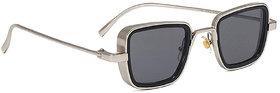 Adam Jones UV Protected Goggles Branded Metal Body Silver Black Lens inspired from Kabir Singh Sunglass for Men and Boys