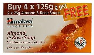 Himalaya Almond&Rose Soap (4Nx125G)