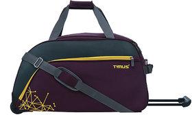Timus Dynamite 65 cm 2 Wheel Trolley Bag for Travel Duffel Strolley Bag (Purple)
