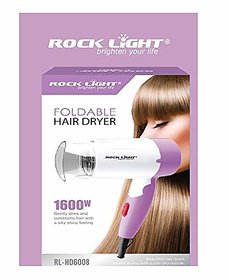 Rocklight 1600 Watt Foldable Hair Dryer  (1600 W, Purple)