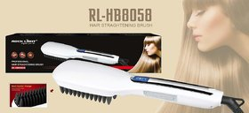 ROCK LiGHT Professional Hair Straghtening Brush Max Temperature 360 Degree LED Display Blade Heater Design