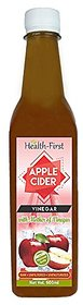 Health First apple cider vinegar with mother of vinegar is 100 percent natural, pure apple juice fermented by adding yea
