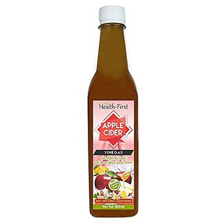 Health First Apple Cider Vinegar with Strand of Mother, Honey, Ginger, Garlic and Honey - 500 ml