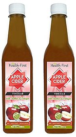 Health First Apple Cider Vinegar with Strand of Mother - 500 ml (Pack of 2)