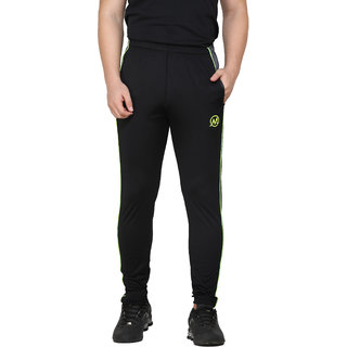 Trendy Trotters Men's Cotton Rich Blend Track Pants, Joggers, Sports Gym Lower Pajama with Zip Pockets Slim Fit-V03 ML12