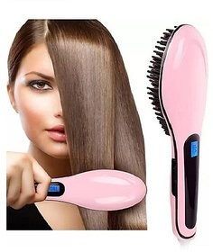 Hair Straightener Brush - Hair Straightener - HQT 906 (Pink)