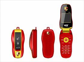 MTR KEY A KEY SHAPPED BLUETOOTH DIALER PHONE WITH 1000 MAH, CAMERA, MULTIMEDIA, MULTIPLE LANGUAGES DUAL SIM, RED COLOR