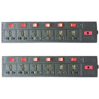 Combo 2PCS of 6+6 Socket Extension Board 6 Amp 3 Meter