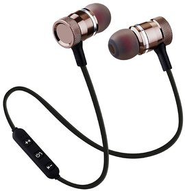 Wireless Magnetic In the Ear Headset With Mic Black