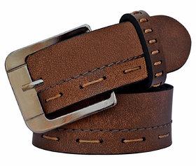 Sunshopping Men's Leatherlite Brown Formal Belt