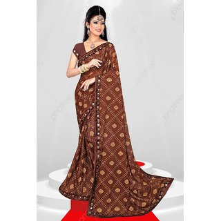 Stark Bandhani Silk Saree With Blouse Piece