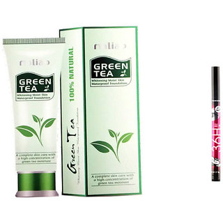 Maliao Green Tea Cream Foundation Bb With 1 36H Liner 4.5 Gm
