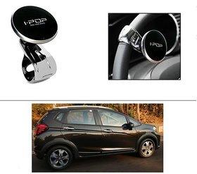 AutoStark i-Pop Black Big Size Car Steering Wheel Power Holder Knob For Honda WR-V