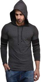 Stylesmyth Grey Hooded T-Shirt For Men