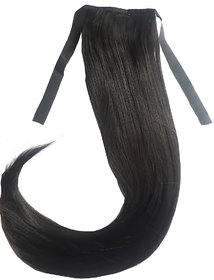 Arooman Ribbon Ponytail Binding Up Synthetic Hair Extension/Half wig For Womens(Brown 24 Inches)
