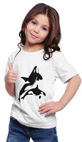 Haoser girls printed Half Sleeve Round Neck  Cotton T-Shirts   Kids Tshirt for Girls