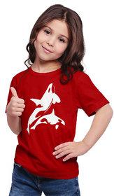 Haoser Girl's Half Sleeves Cotton Regular Fit Round Neck T-Shirt  for Kids