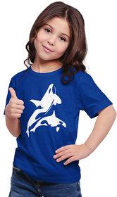 Haoser kids girl's half sleeves printed Round Neck Cotton t-shirt | kids round neck Printed tshirt