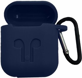 SHOPKING Silicone Shock Proof Protection Sleeve Skin Carrying Bag Box Cover Case Compatible with AirPods earphone blue
